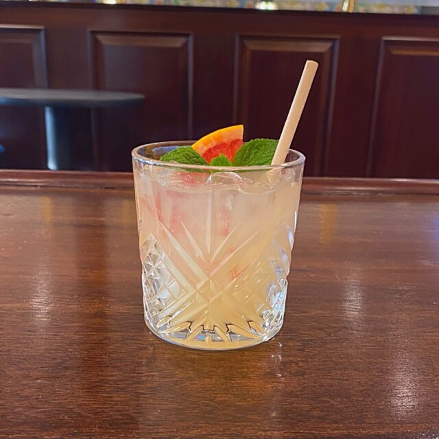 """We have a new happy hour drink at Grossman's called the """"Pivot!"""" It's made with our House-infused Mint Gin, Grapefruit, and Tonic. 🍃 . . . #sweettooth #bakery #sonomacounty #santarosa #takeout #curbsidepickup #localeats #patiodining #outdoordining #dinelocal #santarosafood #railroadsquare #foodcommunity #grossmans"""