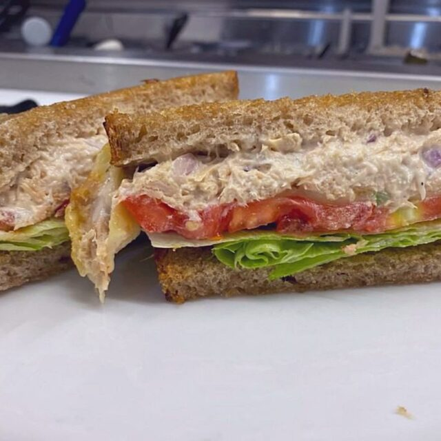 Manager's Choice: The Tuna Melt. Made on rye, with lettuce, tomato, and melted gruyere cheese––it's easy to see why!  . . . #bagelsandwich #bagels #food #bakery #sonomacounty #santarosa #takeout #curbsidepickup #localeats #dinelocal #santarosafood #railroadsquare #foodcommunity #takeout #visitus #Jewishcuisine #newyorkdeli #tunamelt #managerschoice