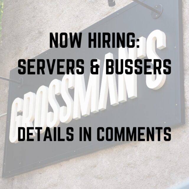 grossmansnoshery 📣Now Hiring: 2 Servers, 3-5 shifts/week 1 Food Runner, 2-4 shifts/week 1 Busser (must be available Fri & Sat PM) 2-4 Shifts/week . Please apply at Grossman's in person between 2pm-5pm. #nowhiring #sonomacountyjobs #santarosajobs #grossmansnoshery #sonomacountyrestaurantjobs